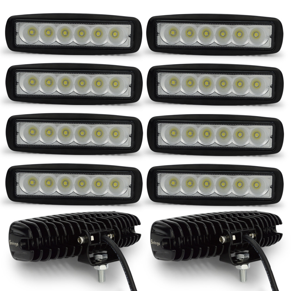 10 pcs DRL 12-24 v 18 w LED Travail Lumière Spot Tracteur 4x4 Moto Offroad Brouillard lumière ATV LED Light Work Externe Lumière