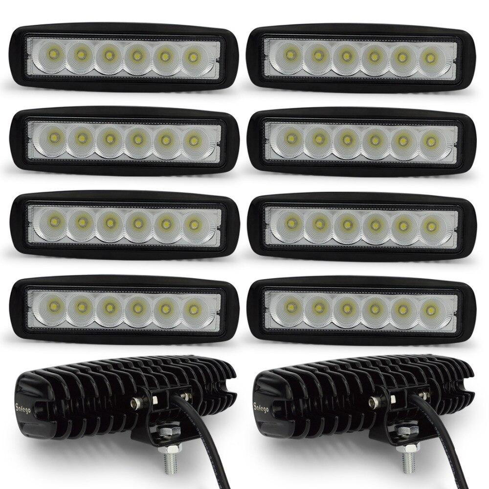 10pcs DRL 12-24V 18W LED Work Light Spot Tractor 4x4 Motorcycle Offroad Fog light ATV LED Work Light External Light
