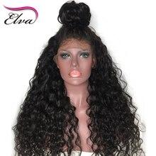 ELVA ВОЛОС бразильский Волосы Remy Синтетические волосы на кружеве парик Glueless волна воды волос предварительно сорвал волосяного покрова отбеленные узлы Человеческие волосы Искусственные парики