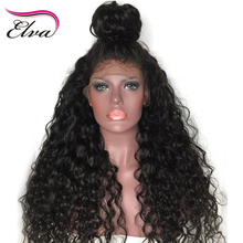 Elva Hair Brazilian Remy Hair Lace Front Wig Glueless Water Wave Hair Pre Plucked Hairline Bleached Knots Human Hair Wigs