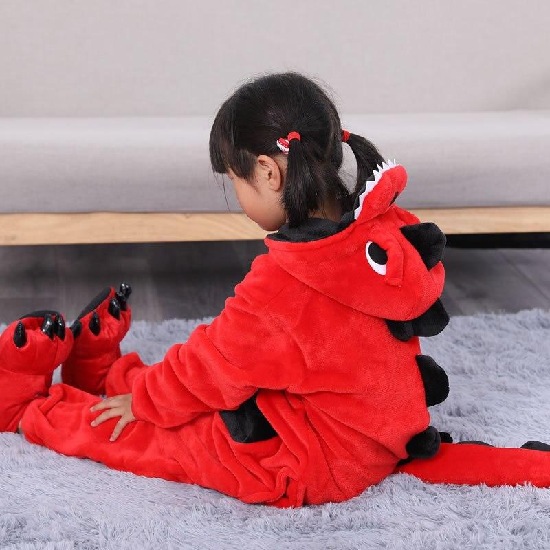 Winter Child Unicorn Pajamas Baby Onesie Kids Pajama Set Animal Cartoon Sleepwear Stitch Unicorn Hooded Anime Cosplay Costumes