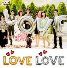16inch 40cm capital letter LOVE set metallic colorful foil mylar helium Balloons for font b Birthday