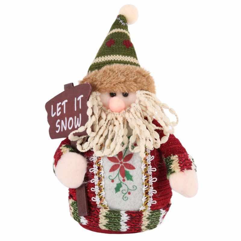 Рождественский подарок Санта Клаус в форме снеговика, кукла-олень украшения для рождества кулон Висячие украшения