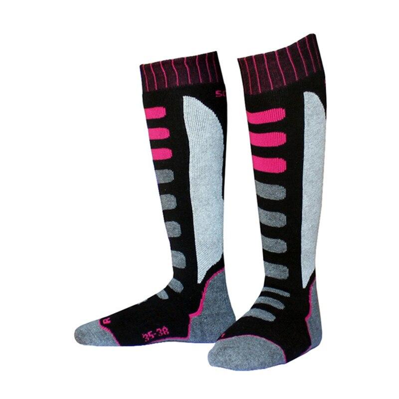New Winter Warm Women Thermal Skating Skiing Socks Thicken Cotton Sports Snowboarding Hiking Long Ski Sock Warmer Sox Breathable