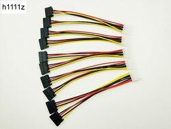 5 pcs sata cabo de alimentação divisor molex 4pin macho para serial ata 15pin x 2 fêmea y cabos de disco rígido 20 cm para mineração de mineiro bitcoin