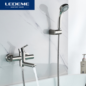 LEDEME Stainless Steel Bathtub Faucet Bathroom Shower Hot and Cold Water Mixing Polished Brused Bathtub Faucets Tap L73103