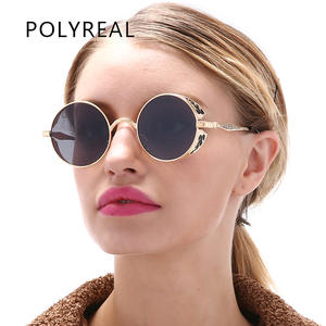 POLYREAL Vintage Round Sunglasses Women Men Sun Glasses 2641a14b8e
