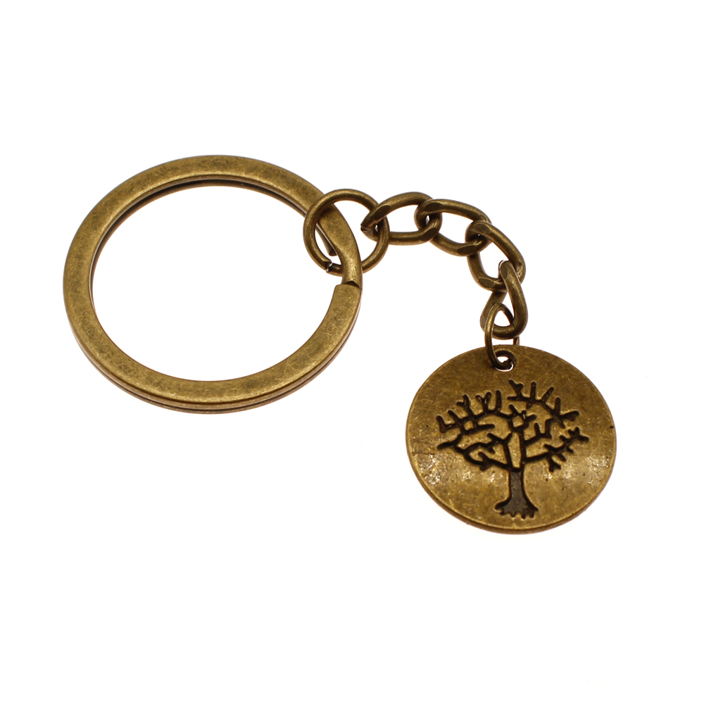 New Key Chain Car Keychain Tree Of Life Key Pendant Gifts High Quality Handmade DIY Souvenirs Gift in Key Chains from Jewelry Accessories