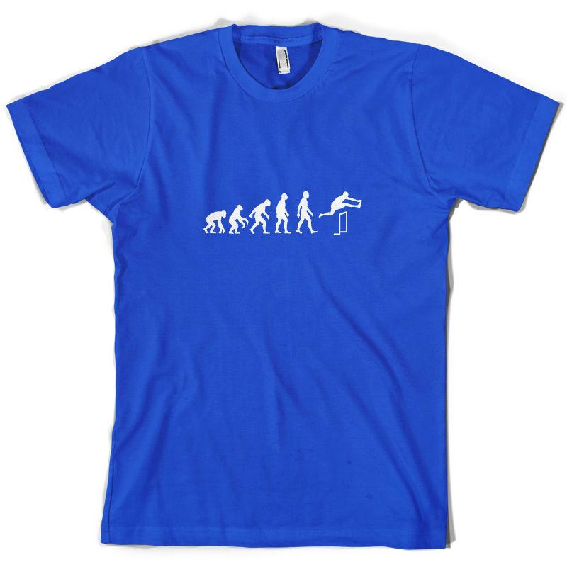 Evolution Of Man Hurdles - Mens T-Shirt Hurdler Hurdling 10 Colours Print T Shirt Short Sleeve Hot Tops Tshirt Homme