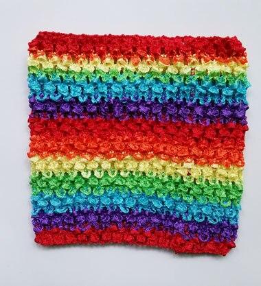 Вязанная крючком юбка-пачка для маленьких девочек, 9 дюймов, топы-трубы, обхват груди, широкая вязаная крючком, топы, юбка-пачка «сделай сам», платье, поставщик - Цвет: Rainbow Tutu Top