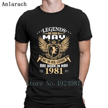 Kings Legends Are Born In May 1981 T Shirt Comical Summer 20