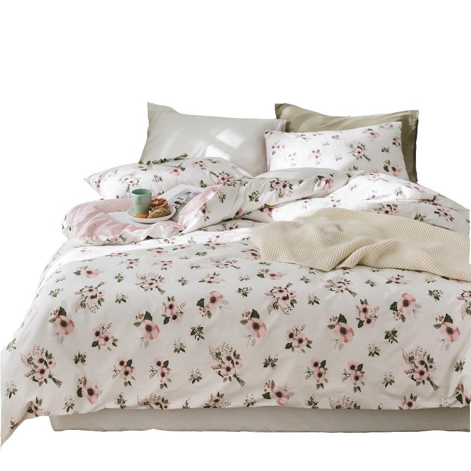 100 cotton flowers duvet cover set twin queen king size