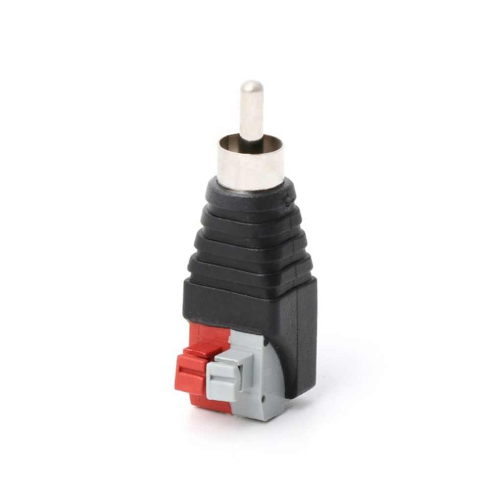 Speaker Wire A/V Cable To Audio Male Rca Connector Adapter Jack Led Lights Simply Professional Appearance