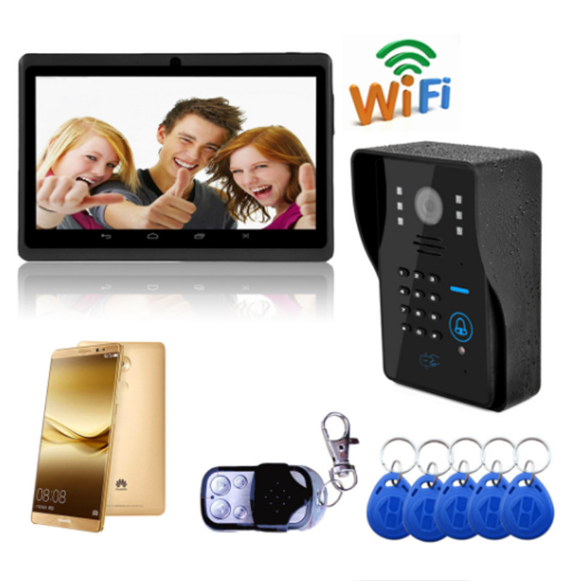 720P Wireless WIFI IP Doorbell Password& ID Card & Remote Control Open Door Video Door Phone 720P Wireless WIFI IP Doorbell Password& ID Card & Remote Control Open Door Video Door Phone
