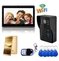 720P Wireless WIFI IP Doorbell Password& ID Card & Remote Control Open Door Video Door Phone