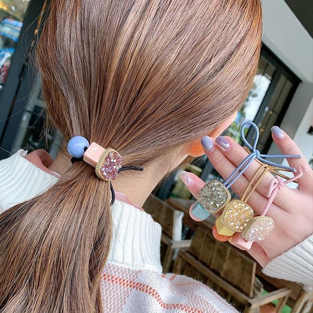 M MISM 1 PC Siyah Toka Zarif Kadın Çiçek Saç Yüzük Sakız Aksesuarları Elastik saç bandı Kızlar Için Çiçek Saç Halat