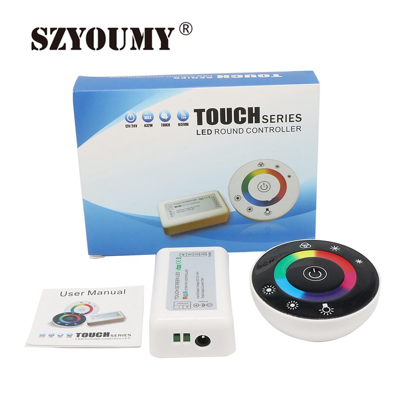 Lights & Lighting Szyoumy 2.4g Rf Rgb Controller Touch Screen Round Controller Dc12-24v 3 Channel For Rgb Led Strip 5 Pcs Epacket Bright And Translucent In Appearance Rgb Controlers