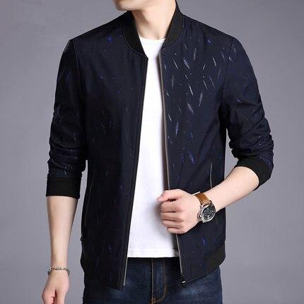 KMETRAM Giacca Uomo Casual Slim Mens Jacket Handsome Bomber Jacket Mens giacche e Cappotti Più Il Formato 3XL Jaqueta Masculina HH834 - 3