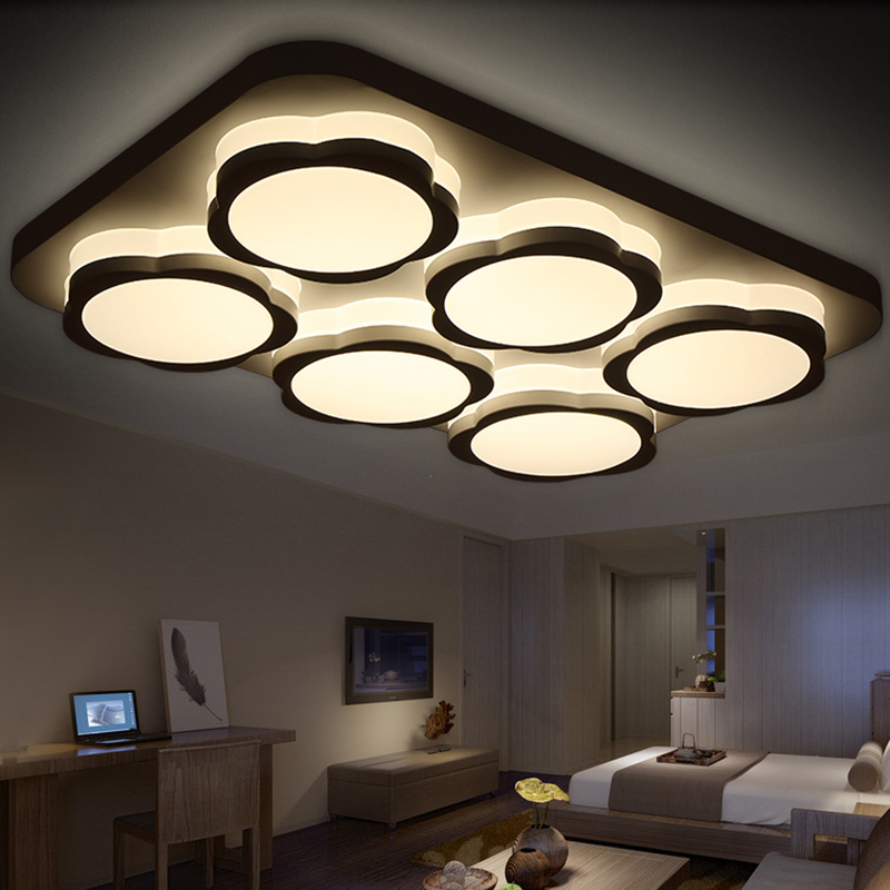 modern led ceiling lights for living room acrylic bedroom foyer light fittings plafoniere moderne lamp kitchen lamps in ceiling lights from lights - Living Room Led Ceiling Lights