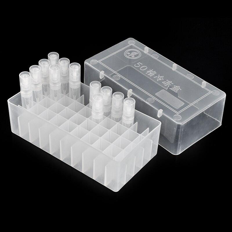 Пластиковая коробка 52*77*146 мм, портативный флакон для духов с дисплеем и легко оформленными духами диаметром 15 мм