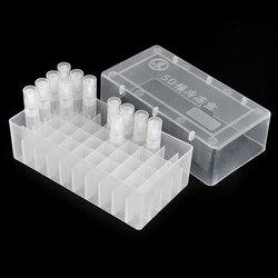 52*77*146mm caixa de plástico portátil perfume garrafa display & facilmente formulado perfume círculo diâmetro 15mm