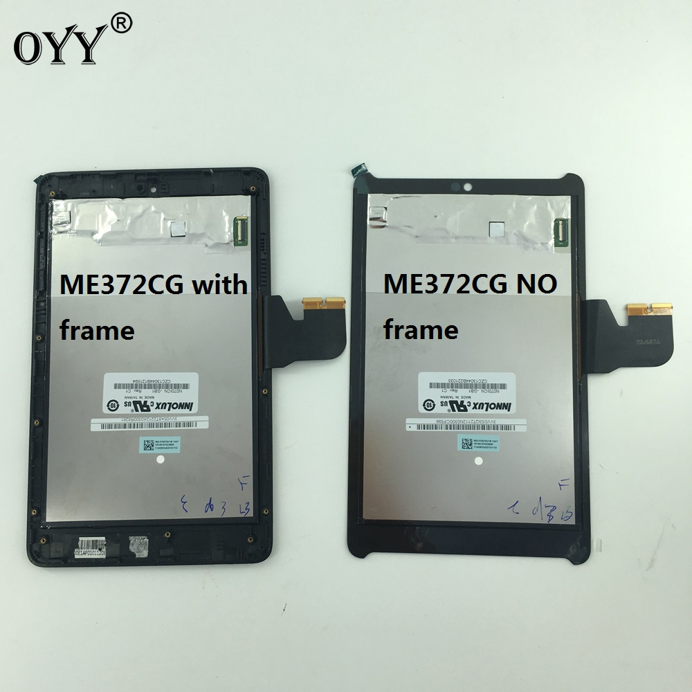 LCD Display Panel Screen Monitor Touch Screen Digitizer Glass Assembly For Asus Fonepad 7 LTE ME372CG ME372 KOOE K00E 5470L FPC used parts lcd display monitor touch screen panel digitizer assembly frame for asus memo pad smart me301 me301t k001 tf301t
