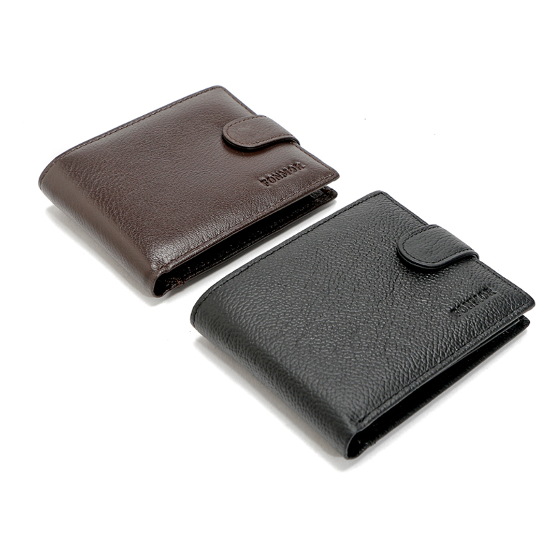 Rfid Wallet Card Protector Genuine Leather Men Wallet With Coin pocket Cowhide High Quality