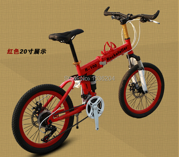 21 Speed Folding Bikes Mini Mountain Bike 20 Inch Small Double