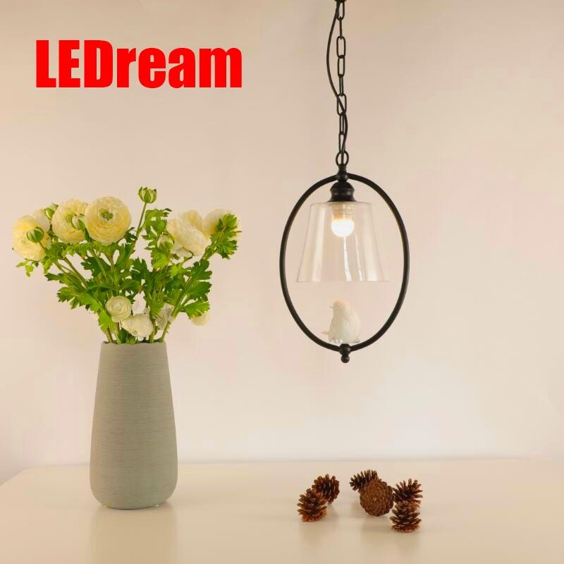 Bird pendant dining-room lamp contracted Nordic bird children room light creative single-head corridor porch light