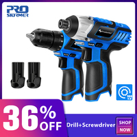 PROSTORMER 12V Cordless Electric Screwdriver 100NM Torque Cordless Drill 25NM Mini Hand Drill 2 Speed Wireless Power Driver Tool