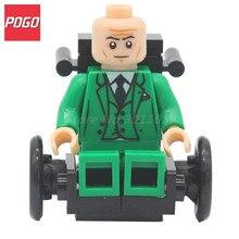 POGO Professor X With Wheelchair X men Super Hero Classic Building Block Model Sets Single Sale