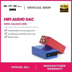 SMSL Sanskrit 10th SK10 Hifi Digital Decoder AK4490 PCM384 DSD256 DAC Pre-out Accelerometer Support OTG with Remote Control