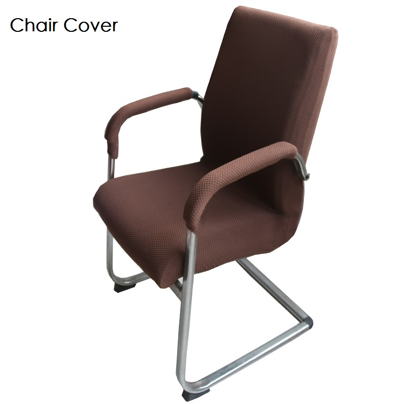 Office Chair Cover Elastic Knitted Fabric Zipper Design