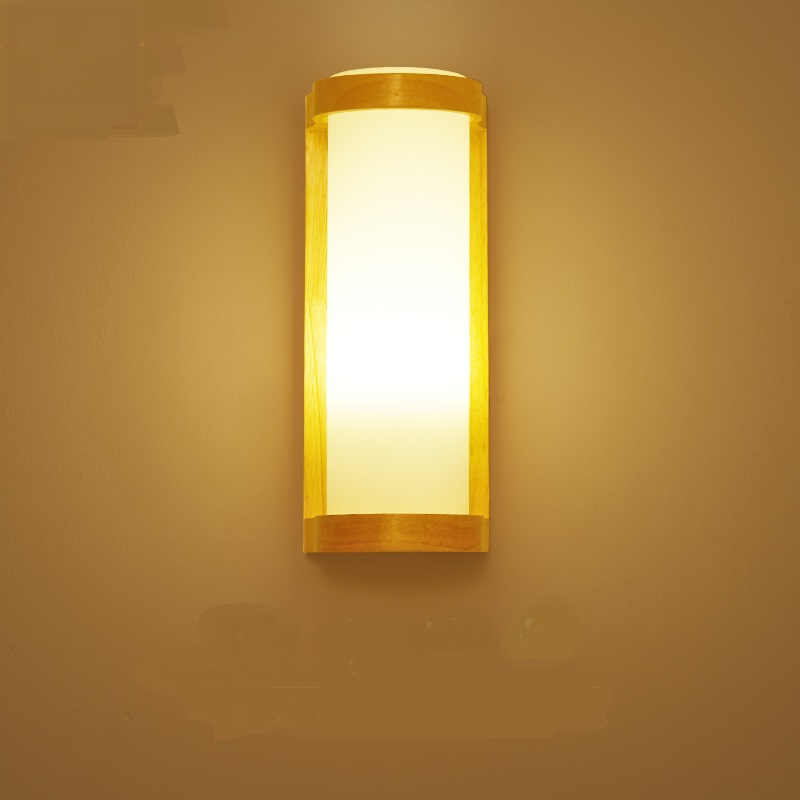 bedroom bedside  wall lamp warm living room balcony creative aisle lights Nordic wood wall lamps decorative lighing ZA82416 american loft style iron droplight industrial edison vintage pendant lamp dining room rh hanging light fixtures indoor lighting