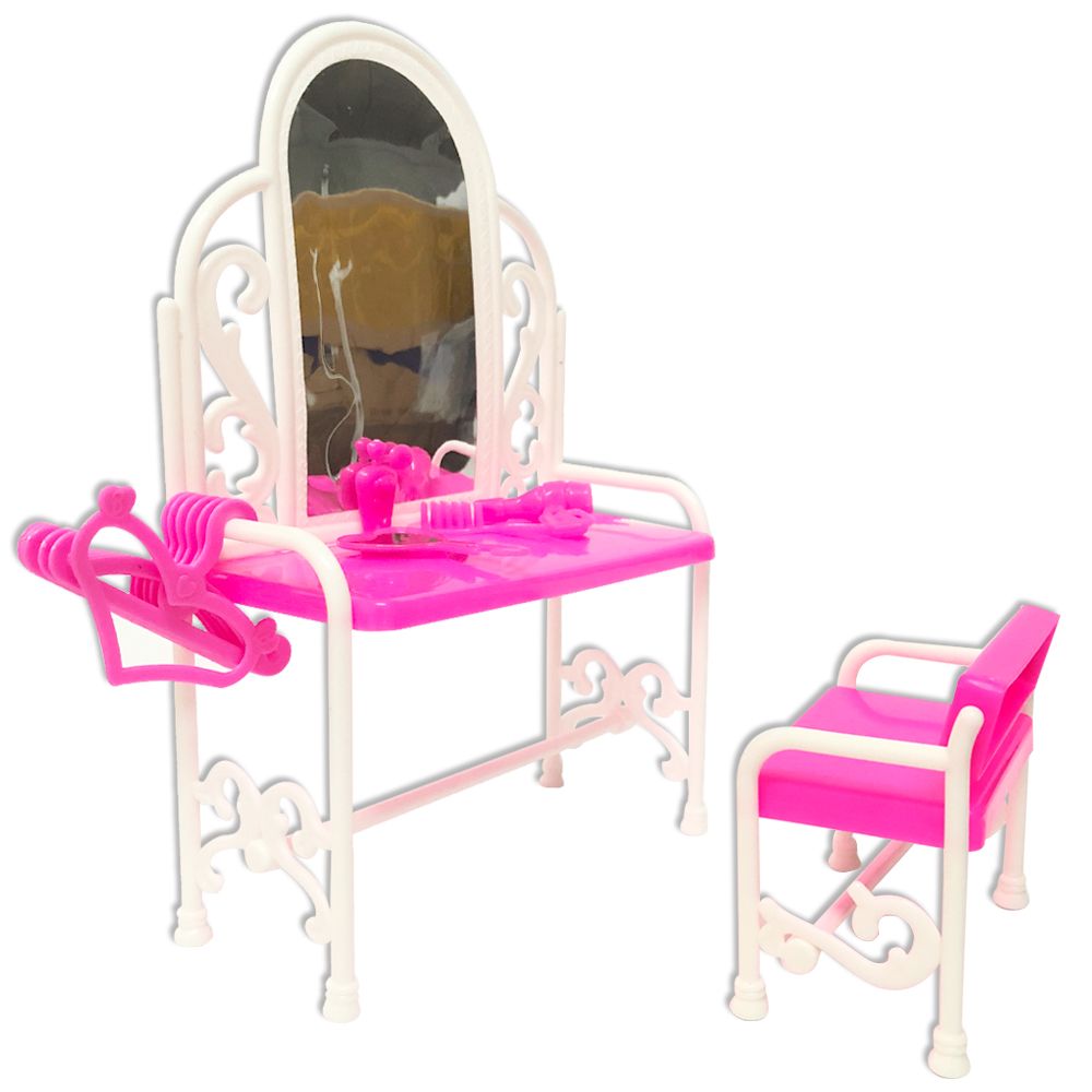 Barbie Doll House Furniture Living Room Sofa Bed Dressing Table Hanger Set G9