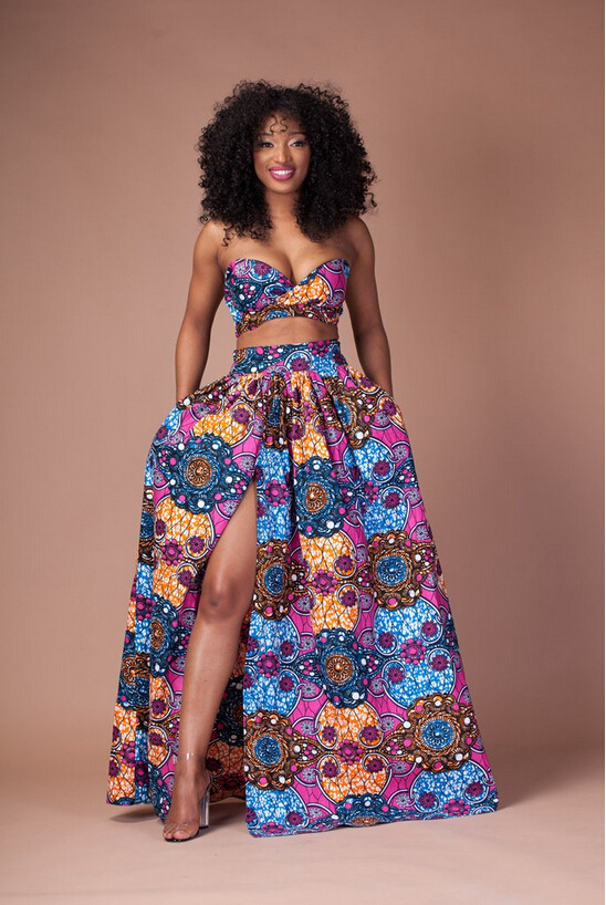 Two Piece Floral Maxi Dress