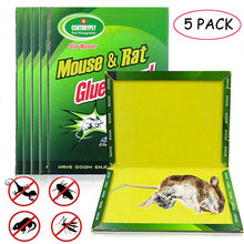 5 PCS Del Mouse Bordo Sticky Mouse Colla Trappola di Alta Efficace Roditore Ratto Serpente Bug Catcher Controllo Dei Parassiti Rifiutare Non-tossico Eco-Friendly(China)