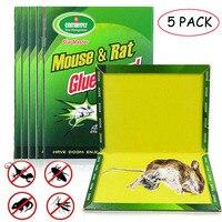 5 قطعة لوحة الماوس لزجة الفئران شريط لاصق عالية فعالة القوارض الفئران ثعبان البق الماسك مكافحة الآفات رفض غير سامة صديقة للبيئة-في مصائد من المنزل والحديقة على