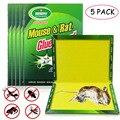 Controle de pragas não-tóxico eco-amigável do coletor dos erros da serpente do rato do rato da armadilha pegajosa alta da colagem dos ratos da placa do rato de 5 pces