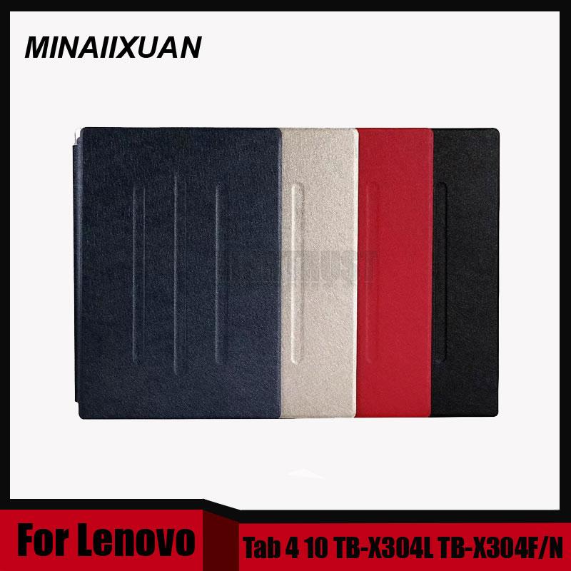 Ultra Slim Folio Stand PU Leather Cover Case For Lenovo Tab4 Tab 4 10 TB-X304L X304F X304N TB X304L 10.1 Tablet + Screen film