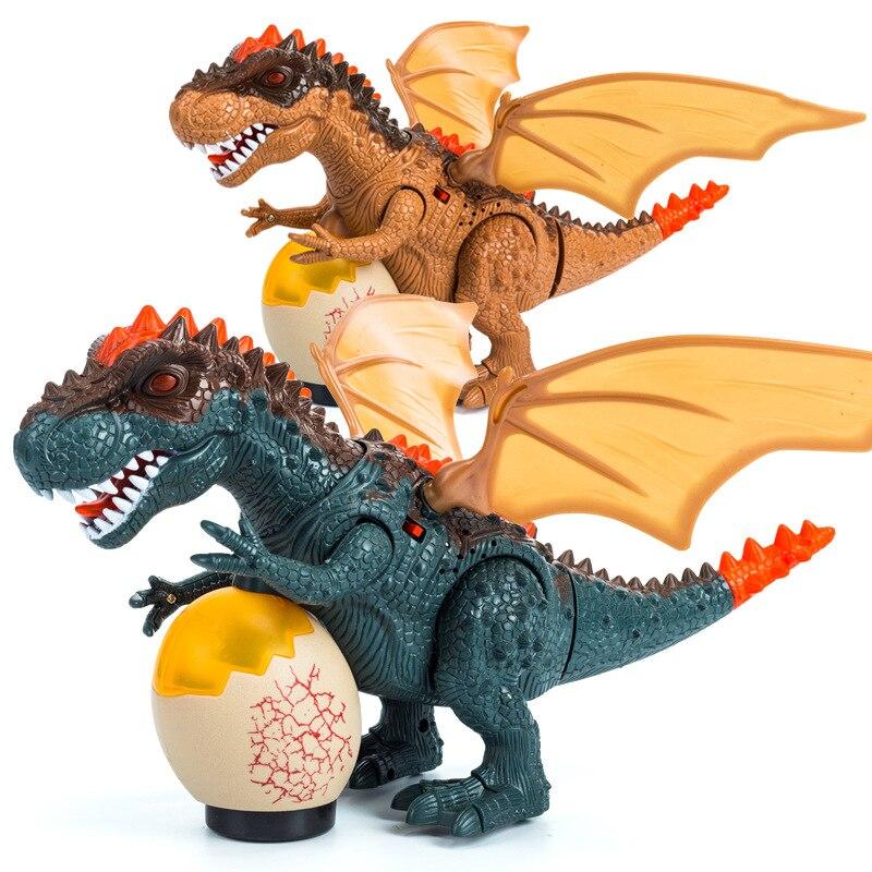 infravermelho rc dinossauro brinquedos de controle remoto tyrannosaurus balancando cabeca flash olhos ovos andando spray dino