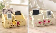 Fashion desktop rustic cosmetics storage box home coffee table remote control storage box