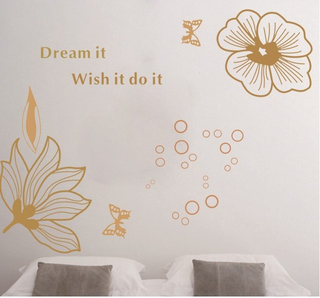 Free shipping, TV background DieWu bed decoration environmental protection PVC stickers