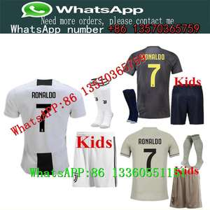 9476506d4 18 19 Juventus RONALDO DYBALA HIGUAIN kids kit soccer jersey 2018-19 juve  MARCHISIO MANDZUKIC CHIELLINI BUFFON child Football Sh