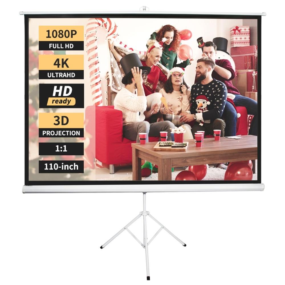 Neewer Projector Scherm Met Standaard, Indoor Outdoor Projectiescherm 4 K Hd 110-inch Met Premium Kreukvrij Ontwerp: 1.1 Gain