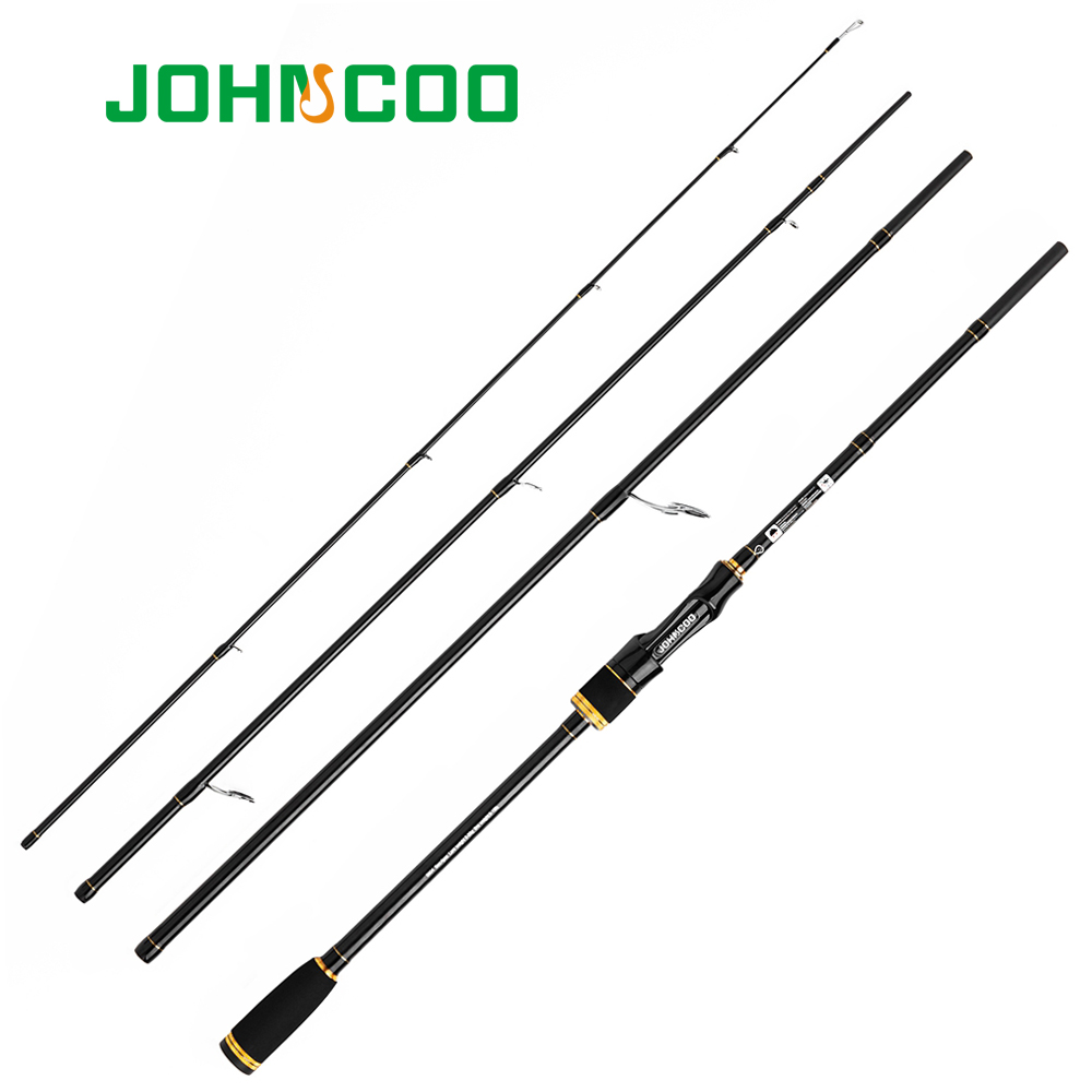 Fishing Casting Spinning Rod 2.1m 2.4m 2.7m 3m 4 Sections 10-25g Carbon Travel