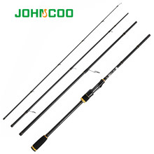 JOHNCOO Steed carbone filature canne à pêche coulée canne de voyage 2.1m 2.4m 2.7m 4 Section M puissance 5-20g pointe sensible à Action rapide(China)