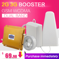 Lintratek KW20L GW LCD Display GSM 900mhz WCDMA 2100mhz Dual Band Signal Booster 3G Gsm Repeater