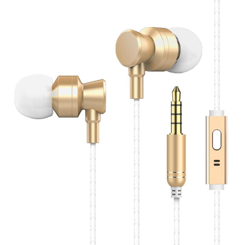 EP012 Bass music earphone metal headset auriculares with mic for iPhone huawei xiaomi xiomi mi redmi note 5 pro sony phone mp3