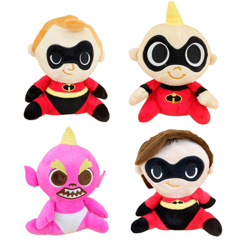 1 piece New The Incredibles 2 Plush Toys soft Helen Jack Bob Parr stuffed dolls The Incredible family set baby toys gifts 1